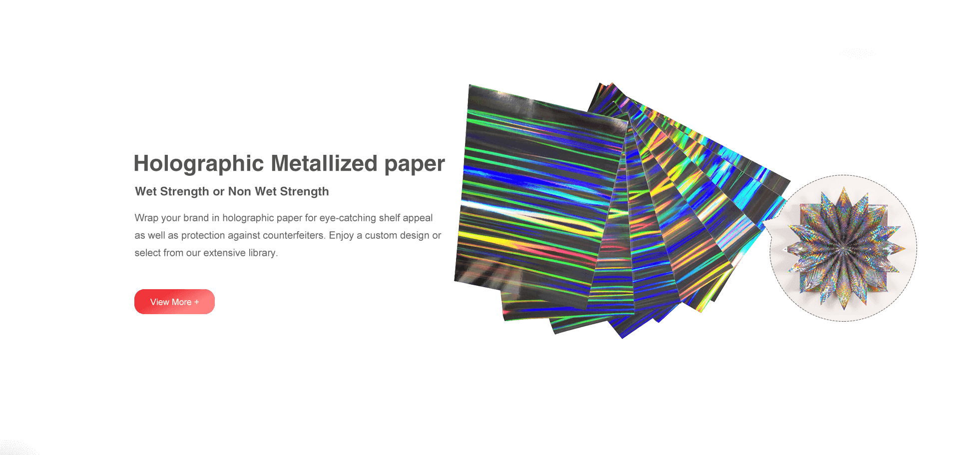 Holographic Metallized Paper